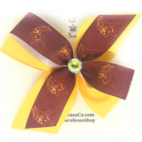 Chartiers-Houston logo hair bows