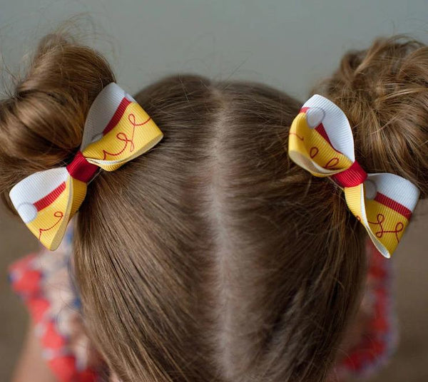 Jessie Toy Story Inspired Pig Tail Hair Bow Set - Clara Beaus Co
