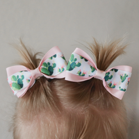 Cactus Pig Tail Bow Set - Clara Beaus Co