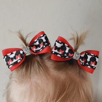 Minnie Mouse Pig Tail Bow Set - Clara Beaus Co