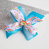 Rainbow Hair Bow - Clara Beaus Co
