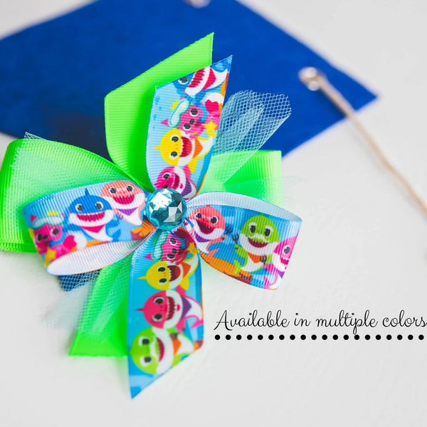 Baby Shark Hair Bow - Clara Beaus Co