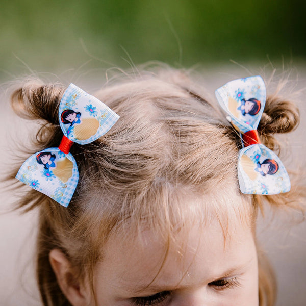 Princess Pig Tail Bow Set - Clara Beaus Co