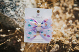Mermaid Print Pig Tail Bow Set - Clara Beaus Co