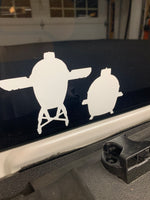 Big Green Egg or Kamado Joe inspired Die Cut Grill Decal