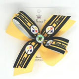Pittsburgh Steelers Hair Bow - Clara Beaus Co