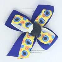 Cookie Monster hair bow - Clara Beaus Co