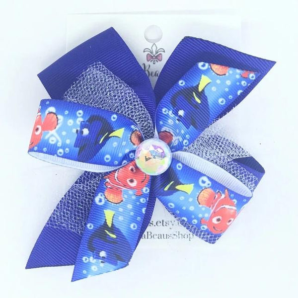 Nemo and Dory Hair Bow - Clara Beaus Co
