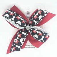 Minnie Mouse Hair Bow - Clara Beaus Co