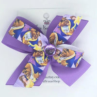Belle Beauty and the Beast Hair Bow - Clara Beaus Co