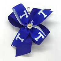 Trinity School District logo hair bows - Clara Beaus Co