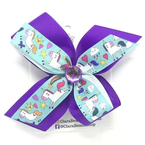 Unicorn Hair Bow - Clara Beaus Co