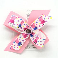 Peppa Pig Hair Bow - Clara Beaus Co