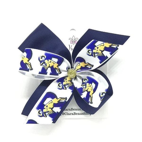 Ringgold logo hair bows - Clara Beaus Co
