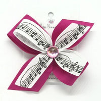 Music Note hair bow - Clara Beaus Co