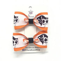 Bethel Park logo pig tail hair bows - Clara Beaus Co