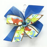 Dinosaur girls hair bow - Clara Beaus Co