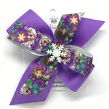 Elsa and Anna Frozen Hair Bow - Clara Beaus Co