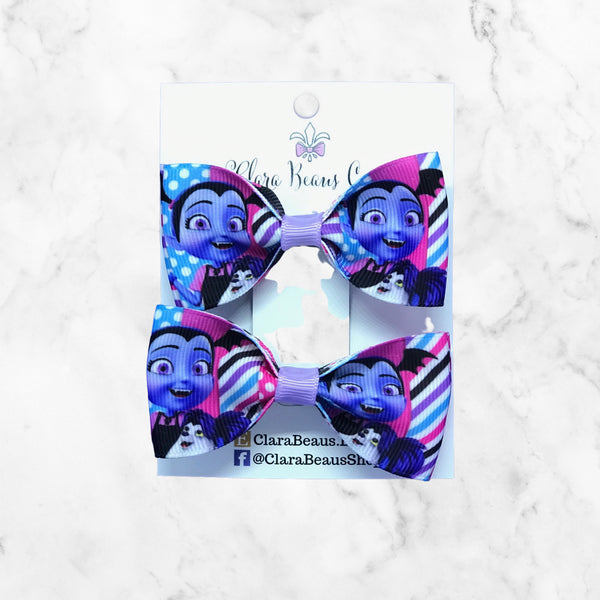Vampirina Pig Tail Bow Set