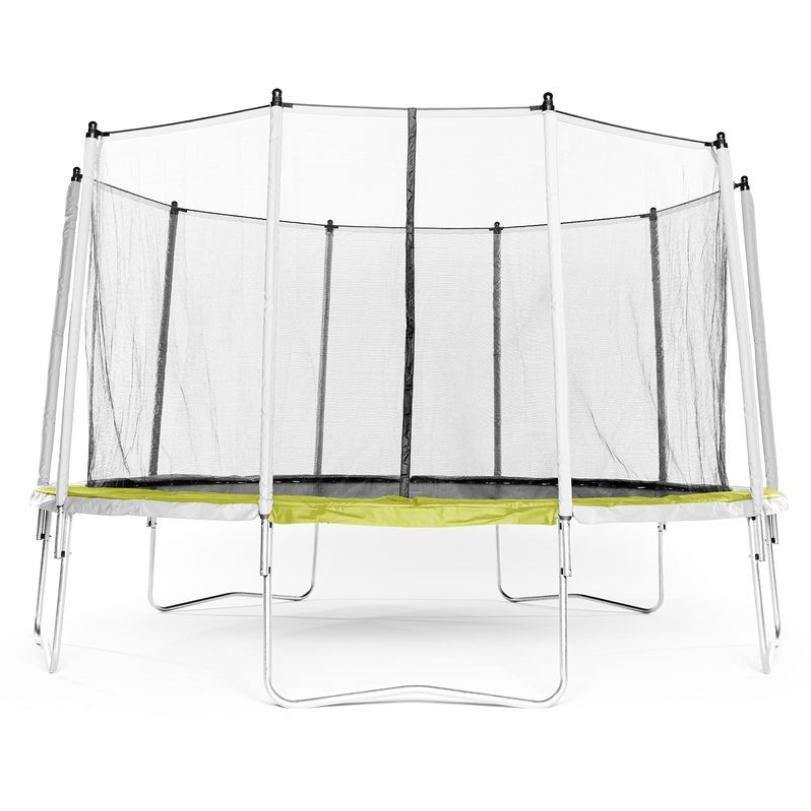 Trampoline reconditionné - TRAMPOLINE ESSENTIAL 420 VERT + FILET DE PROTECTION - Decathlon Seconde Vie