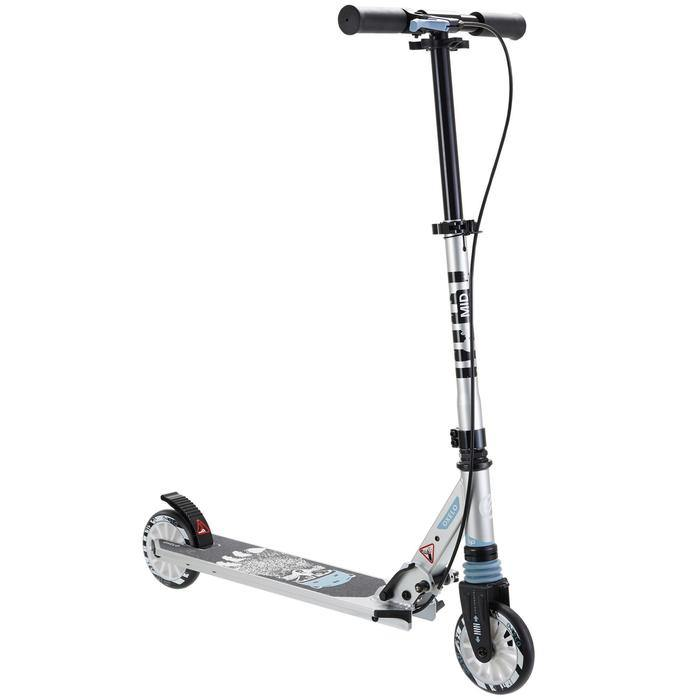 Trottinette enfant reconditionnée - MID5 AVEC FREIN AU GUIDON ET SUSPENSION GRAPHISME RACCOON - Decathlon Seconde Vie