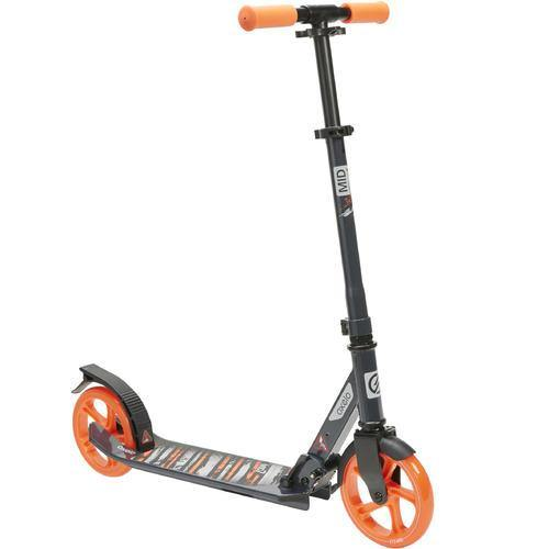 Trottinette reconditionné - TROTTINETTE MID 7 BLEU MARINE ORANGE AVEC BÉQUILLE - Decathlon Seconde Vie : articles de sport reconditionnés