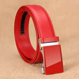 Automatic Leather Belts (Red) - my LUX style