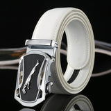 Automatic Leather Belts (White) - my LUX style