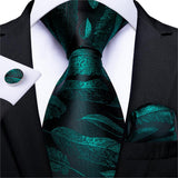 Green Paisley Silk Tie - my LUX style