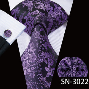 Purple Paisley Floral Ties - my LUX style