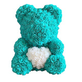 Handmade Artificial Rose Heart Teddy Bear - my LUX style