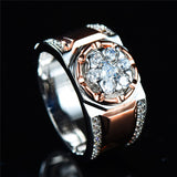 Luxury Male Big Zircon Stone Ring - my LUX style