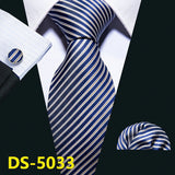 Gold Navy Striped Silk Tie - my LUX style
