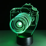 7 Color 3D Hologram Camera Lamp - my LUX style