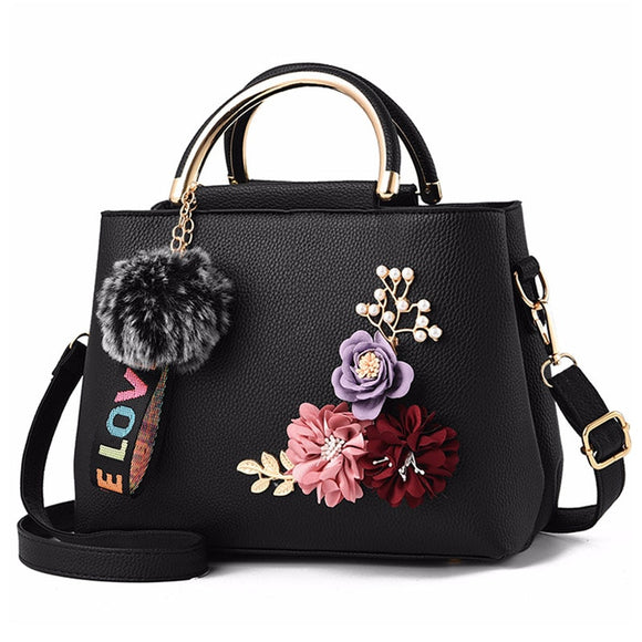 Handbag Shoulder Bag Tote Flowers - my LUX style