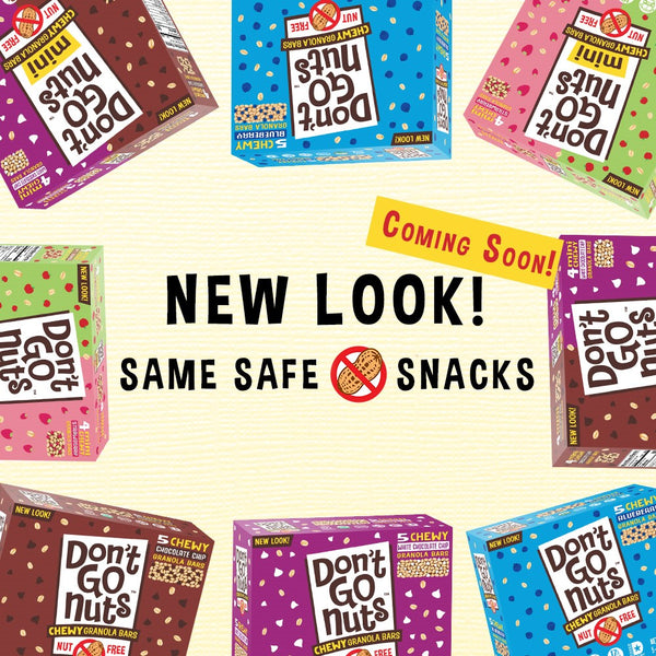 New Look- Coming Soon! Same Safe, Nut-Free Snacks are Here to Stay!