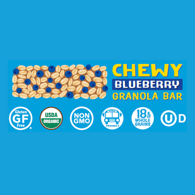 Blueberry Chewy Granola Bar 5-count Box, Case of 6 1