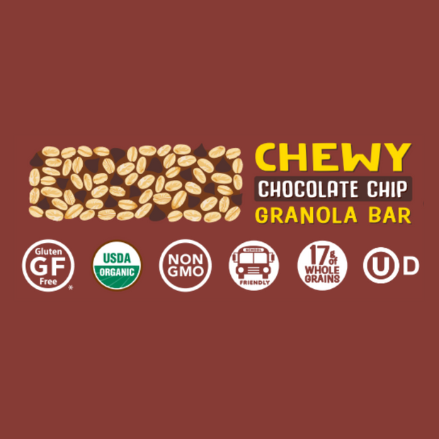 Chocolate Chip Chewy Granola Bar 5-count Box, Case of 6 1
