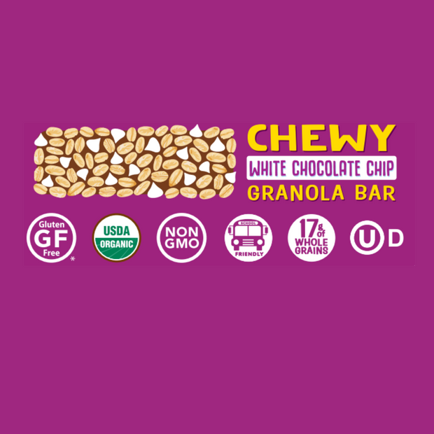 White Chocolate Chip Chewy Granola Bar Case of 5-count Boxes 1
