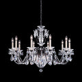 Schonbek 1870 Bagatelle 13 Light Chandelier with Clear Crystal -1260 Spectra Crystal