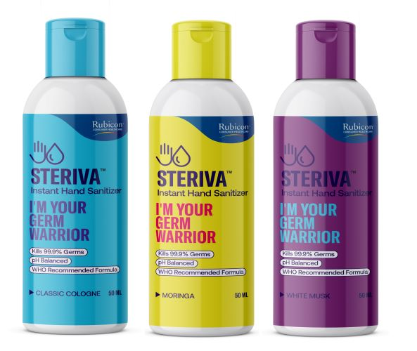 Steriva 80% Alcohol-based Hand Sanitizer - WHO Recommended Formula, 99.9% Germ Protection (500 ml), Spray Attachment