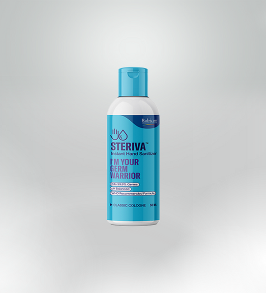 Steriva 80% Alcohol-based Hand Sanitizer (50ml) - WHO Recommended Formula, 99.9% Germ Protection