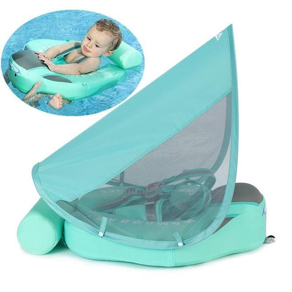 Baby Zwem Trainer Articuur 3D green tail canopy