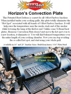 "Horizon Smoker 16"" Convection Plate"
