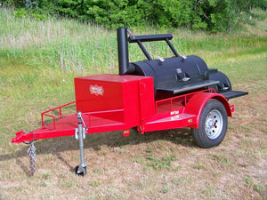"Horizon Smoker 24"" Single Door Smoker Trailer - Smoker Guru"