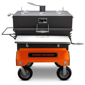 "Yoder Smokers 24""x36"" Adjustable Charcoal Grill on Competition Cart - Flat Top"