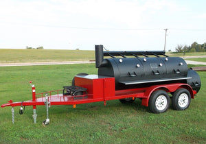 "Horizon Smoker 36"" Triple Door Smoker Trailer - Smoker Guru"
