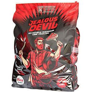 Jealous Devil All Natural Hardwood Lump Charcoal - 35LB - Smoker Guru