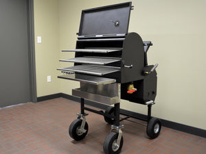 "American Barbecue Systems All-Star Smoker/Grill - 10"" Wheels"