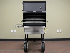 "American Barbecue Systems All-Star Smoker/Grill - 10"" Wheels - Smoker Guru"